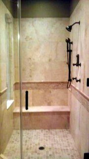 Shower stall remodelled by Sovereign Quality Custom Remodelers