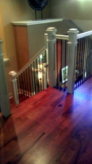 Stairwell remodelled by Sovereign Quality Custom Remodelers
